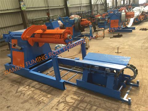 10T*1500 Hydraulic un-coiler with top arm, car and support arm